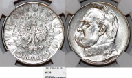 World Coins - Poland. II Republic (1918-1939). Silver 5 Zloty 1935. NGC AU58. Choice AU