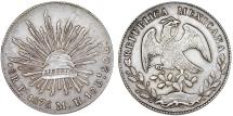 World Coins - Mexico. Republic. AR 8 Reales 1875 Pi-MH. Choice XF
