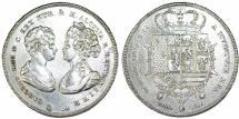 World Coins - Italy. Napoleonic Period. Tuscany. Carlo Luigi & Maria Louisa. Francescone (10 Lire) 1806. XF.