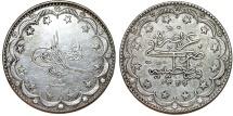Turkey. Ottoman Empire. Muhamnad V. AG 20 Kurush AD 1917 (AH 1293//9). XF