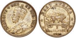 World Coins - British East Africa. George V. AR 1 Shilling 1924. VF