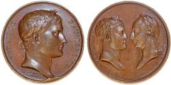 World Coins - FRANCE, Premier Empire. Napoléon I (1804-1814) Æ Medal (41mm). Battle of Austerlitz. Choice XF/AU