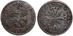 World Coins - Switzerland. Swiss cantons. Neuchatel. Cu 1/2 Batz 1790. Choice VF, toned.