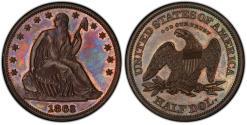 Us Coins - USA. Pattern Coin. Cu 50 Cents 1863. Judd-341. PCGS PR64BN
