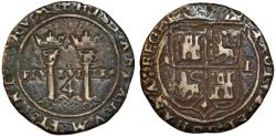 World Coins - Mexico. Carlos & Joanna 4 Reales ND (1506-16) M-L. Fine+, toned, RARE!