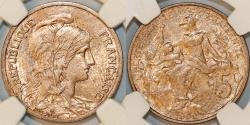 World Coins - France. IV Republic. AE 5 Centimes 1899. NGC MS63 RB