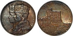 World Coins - Great Britain: King George V. Silver Commemorative Medal 1935 ' On 25 years of Reign. XF details