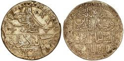 "World Coins - TURKEY. Selim III (1789-1807). Silver Yuzluk AH1203 ""Year 1"" (1789). About VF."