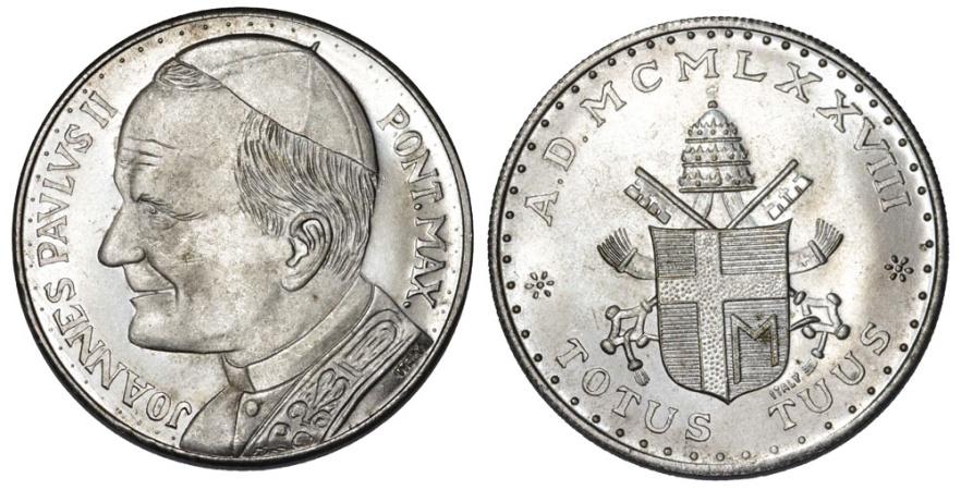 World Coins - Vatican City. AR Medal 1978. UNC