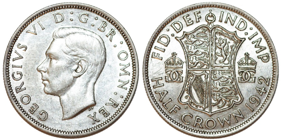 1942 Half Penny Coin Value: 1942 Great Britain King George