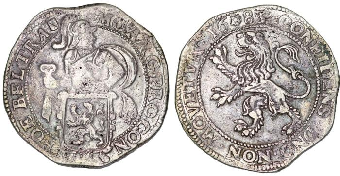 """World Coins - Netherlands. Utrecht. Silver """"Lion"""" Thaler 1683. aVF."""