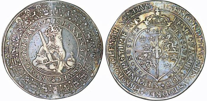 World Coins - Sweden: Johan III (1568–1592). AR 2 Riksdaler 1568. aVF, toned. RARE!