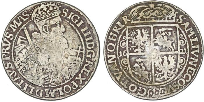 World Coins - Poland. Bromberg. Sigismund III Vasa (1587-1632). Silver 1/4 Thaler 1621. Fine+