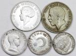 World Coins - Europe. Lot of 5 Silver coins. struck inXIXc, Fine to VF+, cheap.