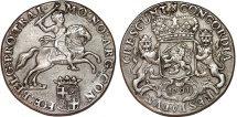 World Coins - Netherlands. Utrecht. AR Ducatone called: Silver Rider 1791. XF.
