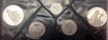 World Coins - Haiti Proof Set (4 Coins) Silver 25 & 50 Gourdes 1973 w/ Original Case & CoA. Scarce