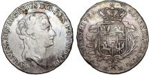 World Coins - Poland. King S. Poniatowski (1764-1795). AR 1/2 Taler 1788. Choice VF, toned.