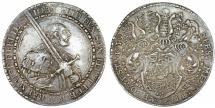 World Coins - Germany: Saxe-Ernestine-Line: Johann Friedrich I, 1532-1547, AR 1½ thaler 1539. Choice VF