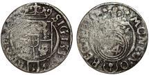 World Coins - Poland. Bromberg. Sigismund III (1587-1632). Silver Polker - 1/24 Taler 1626. VF