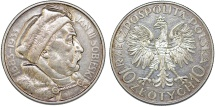 World Coins - Poland. II Republic (1918-1939). Silver 10 Zloty 1933. Nicely toned Choice XF