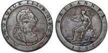 Great Britain. George III (1760-1820). Cu Large/Thick 1 Pence 1797. About VF