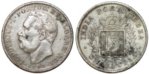 World Coins - Portuguese India. Colonial Issue. AR Rupee 1882. XF, toned, Scarce.