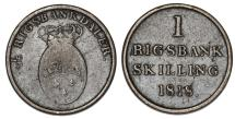 World Coins - Denmark. Frederik VI. CU 1 Rigsbankskilling 1818. VF
