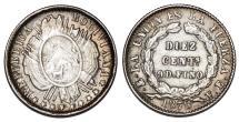 World Coins - Bolivia. AR 10 Centavos 1878. XF+