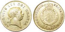World Coins - Great Britain. king George III. Gold 1/2 Guinea 1806. Choice XF/AU
