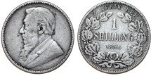 South Africa. ZAR. Silver Shilling 1896. Fine