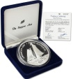 World Coins - Samoa Islands. America's Cup Perth Australia 5 Ounce 0.999 Fine Silver Proof $25 1987. ETUI