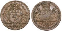 World Coins - France. Lyon. Luis XV. Trade Jetton 1721. XF