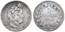 World Coins - France. Louis Philippe I. Silver 5 France 1841 W. Fine+