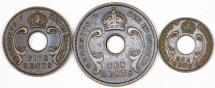 World Coins - British East Africa. George V. Lot of 3 Coins. 1925-1935. VF