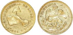 World Coins - Mexico Republic Gold 1/2 Escudo 1858 Go-FS. Choice AU