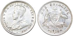 World Coins - British Commonwealth: Australia. Silver Shilling 1916-M. Choice XF/AU