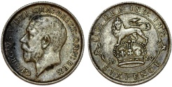World Coins - Great Britain. King George V (1911-1935) Silver 6 Pence 1920. VF