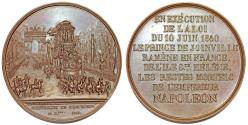 World Coins - FRANCE. 1840 Solemn Funeral of the Emperor AE Meda in  Bronze by Jean-Pierre Montagny. Choice AU
