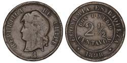 World Coins - Chile. Republic. CU 2 1/2 Centavo 1898. AVF