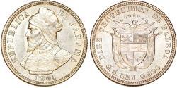 World Coins - Panama. Republic. AR 10 Centesimos 1904. Choice AU.