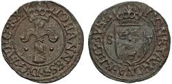 World Coins - Sweden. King John III (1568-1592). Silver Fyrk 1585. VF+. Rare.