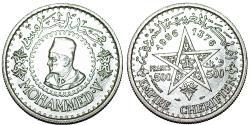 World Coins - Moracco. AR 500 Francs 1956. AU