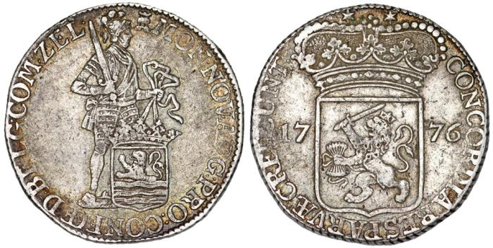 World Coins - Netherlands. Zeeland. AR Ducat 1776. Choice VF