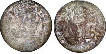 World Coins - Poland. City of Riga. Stephen Bathori (1576-1586). Silver 1 Gross 1582. Toned VF, SCARCE