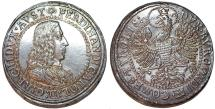 World Coins - H.R.E. Tyrol. Archduke Ferdinand Charles (1632-1662). Silver Double (2) Taler (1646). Choice AU, tooled