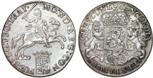 World Coins - Netherlands. Utrecht. AR Ducatone called: Silver Rider 1791. Choice AU