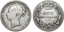 World Coins - Great Britain. Victoria. AR 1 Shilling 1880. Fine+