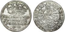 """World Coins - Poland. King Sigismund I """"Old"""" (1506-1548). AR Groschen 1545, Choice VF"""