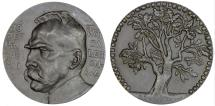 World Coins - Poland, (partitioned till 1918). AE 60mm Medal 1917 issued to honor Marshal Pilsudski as Polsih Army creator. UNC
