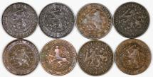 World Coins - Netherlands. Lot of 8 coins: 1 Cent 1883-1925. VF- XF